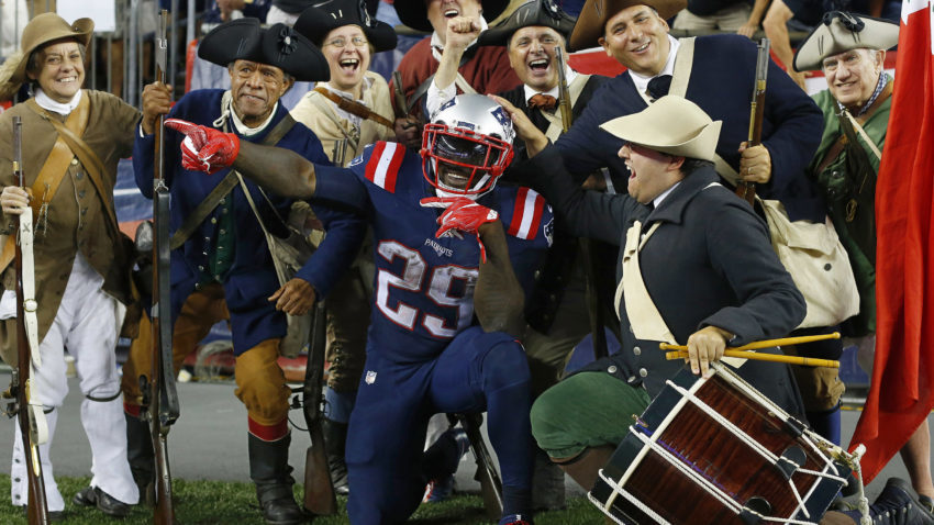 LeGarrette Blount has had a lot to celebrate this season (Photo: Winslow Townson/USA TODAY Sports).