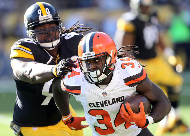 Isaiah Crowell benefits just as much as Duke Johnson from the arrival of Hue Jackson, and he's getting none of the boost (Photo: (Joshua Gunter/cleveland.com).