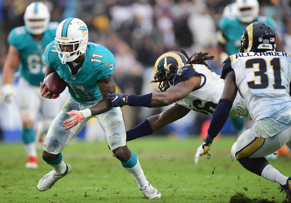 DeVante Parker was active for the Dolphins for the second straight week (Photo: Getty Images).
