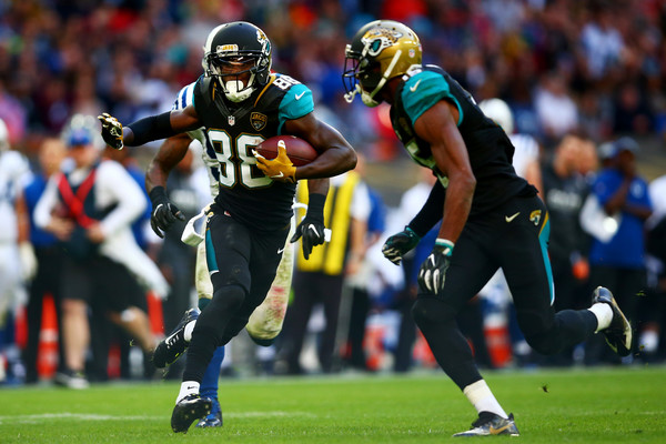 Allen Hurns came up big for the Jags this week, but our NFL Week 4 Review suggests his long-term production could wane (Photo: Dan Istitene/Getty Images Europe).