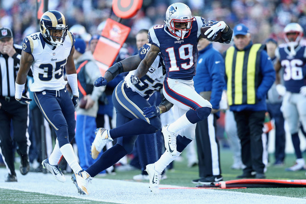 Malcolm Mitchell is becoming a fixture in this piece, and the New England offense (Photo: Maddie Meyer/Getty Images North America)