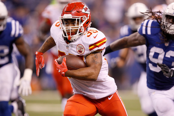 RB Charcandrick West could be the last man standing in KC (Photo: Joe Robbins/Getty Images North America).
